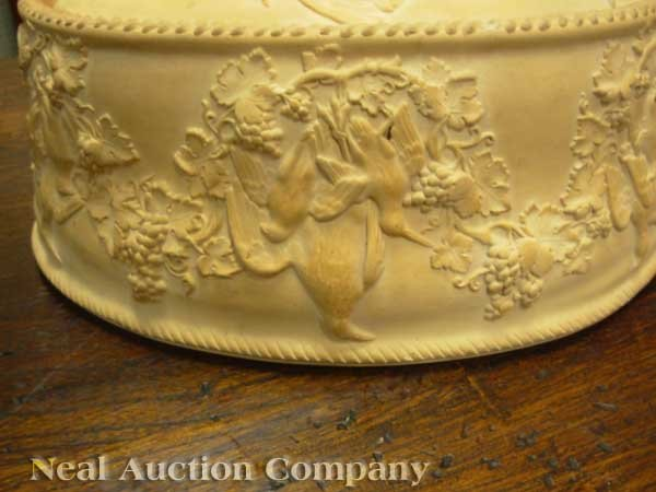 0004: Antique Wedgwood Cane Ware Game Pie Dish - 2