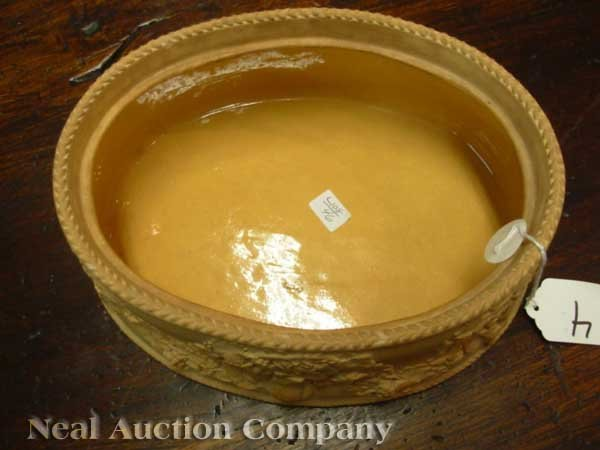 0004: Antique Wedgwood Cane Ware Game Pie Dish - 4