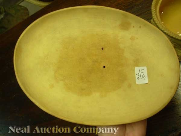 0004: Antique Wedgwood Cane Ware Game Pie Dish - 5