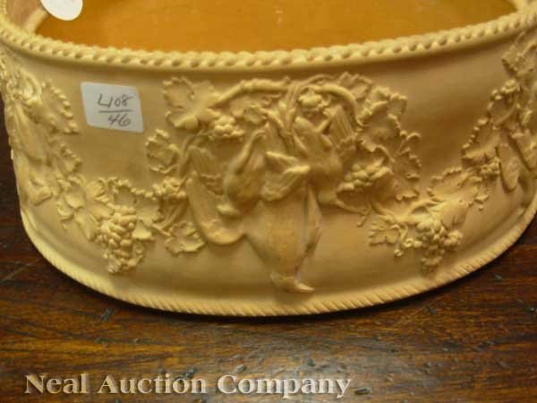 0004: Antique Wedgwood Cane Ware Game Pie Dish - 6