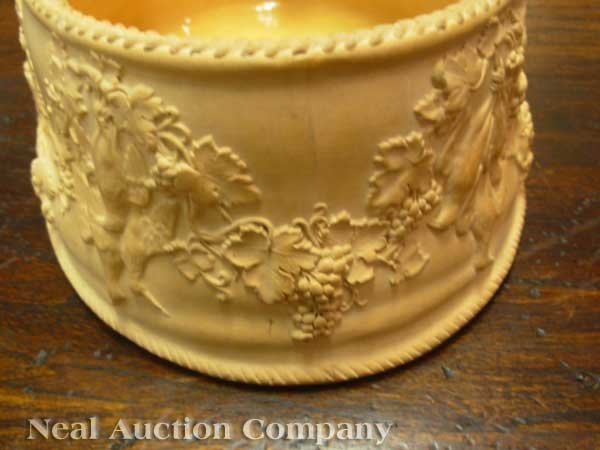 0004: Antique Wedgwood Cane Ware Game Pie Dish - 7