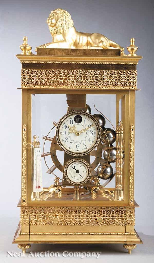 "0021: Neo-Classical-Style ""Falling Ball"" Mantel Clock"