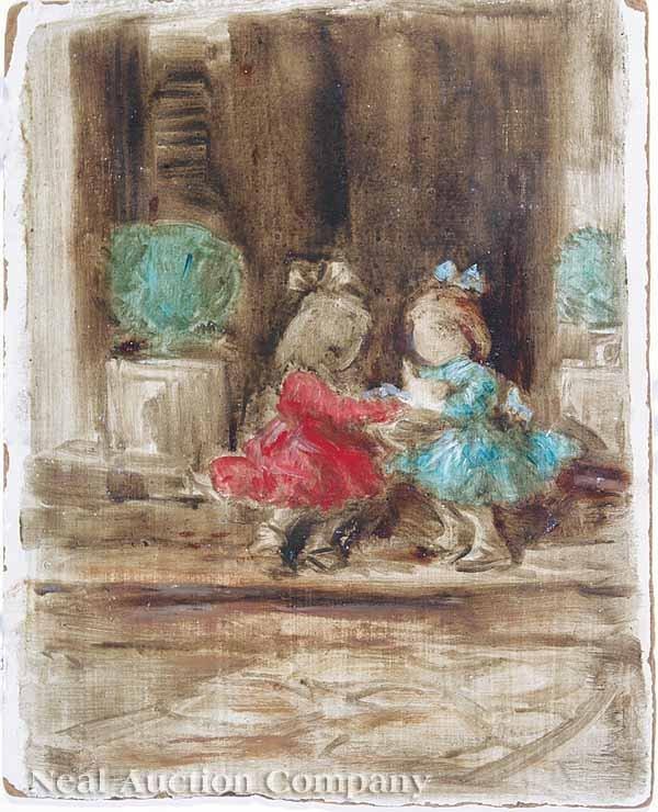 "0516: Wayman Adams, ""Two Girls with a Doll"""