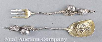 0792 Gorham Sterling Silver Olive Fork and Spoon