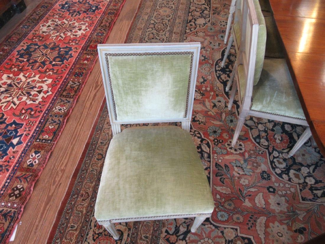 Eight Louis XVI-Style Creme Peinte Side Chairs - 2