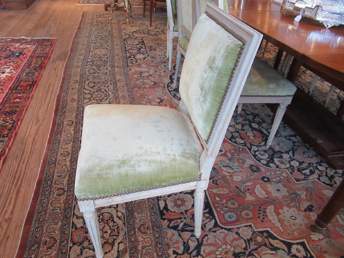 Eight Louis XVI-Style Creme Peinte Side Chairs - 3