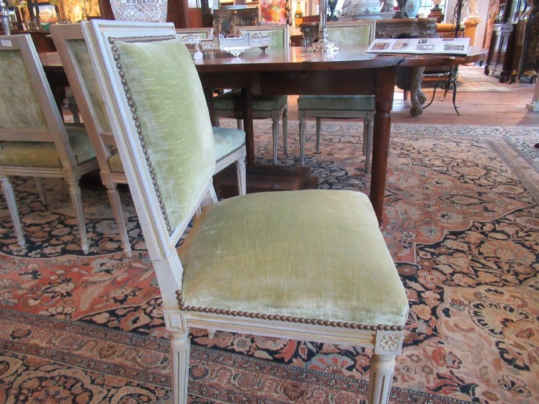 Eight Louis XVI-Style Creme Peinte Side Chairs - 4
