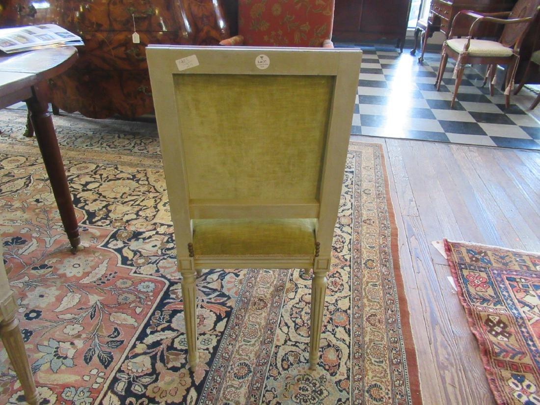 Eight Louis XVI-Style Creme Peinte Side Chairs - 5