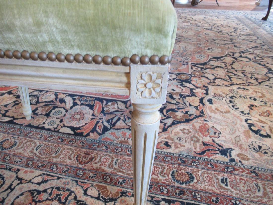 Eight Louis XVI-Style Creme Peinte Side Chairs - 6