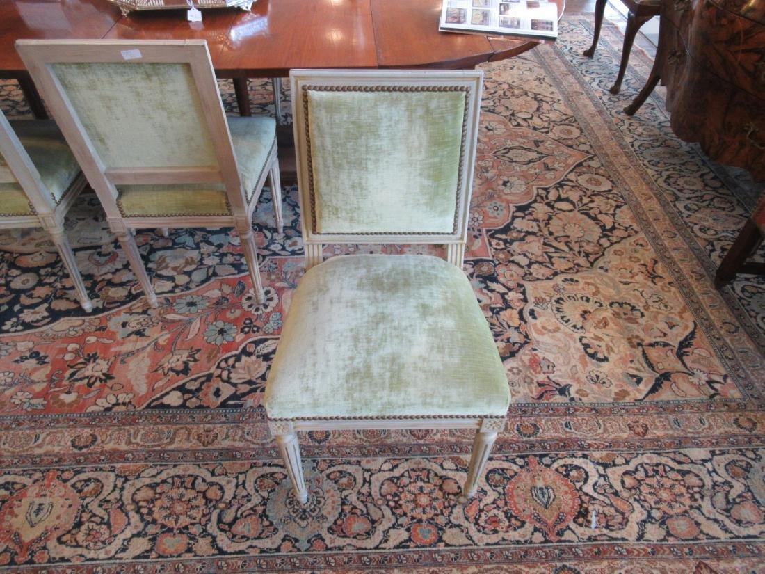 Eight Louis XVI-Style Creme Peinte Side Chairs - 7