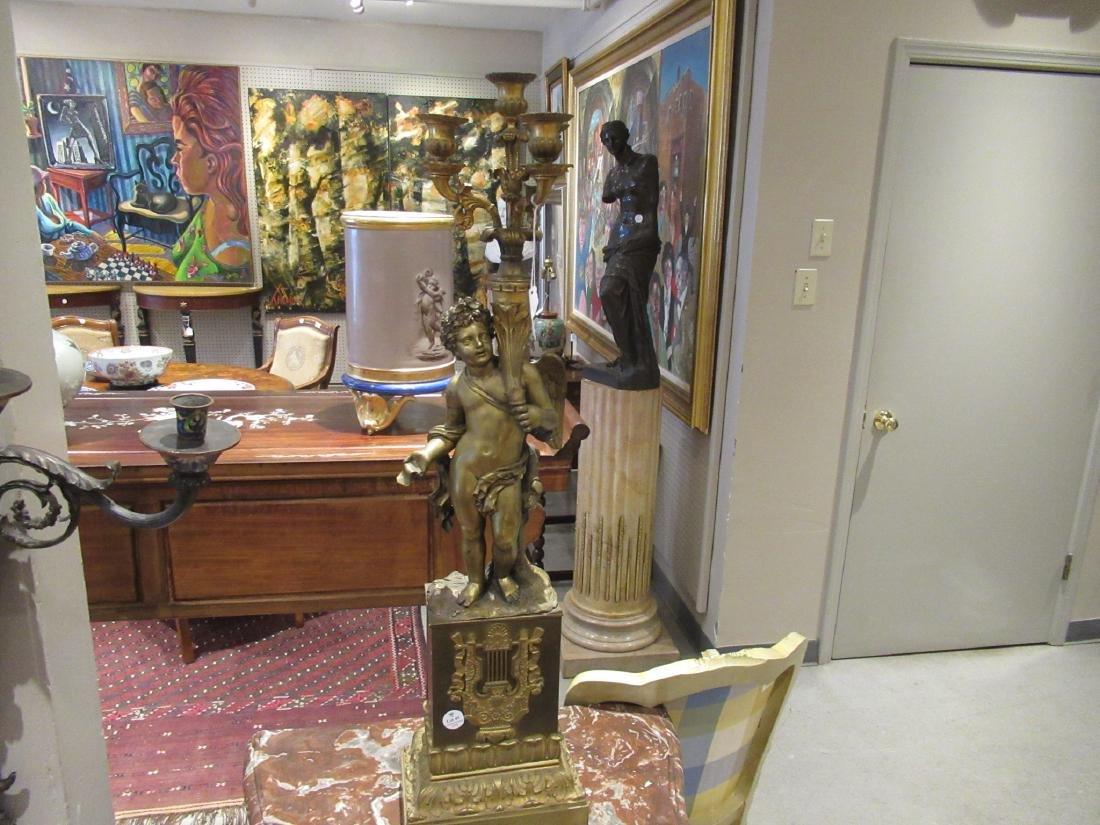 Louis Philippe Bronze Four-Light Figural Torchere - 2