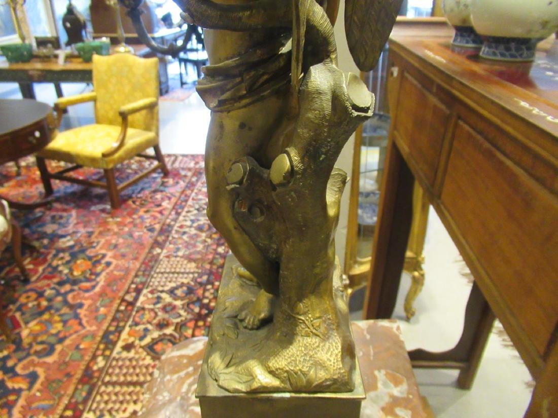 Louis Philippe Bronze Four-Light Figural Torchere - 5