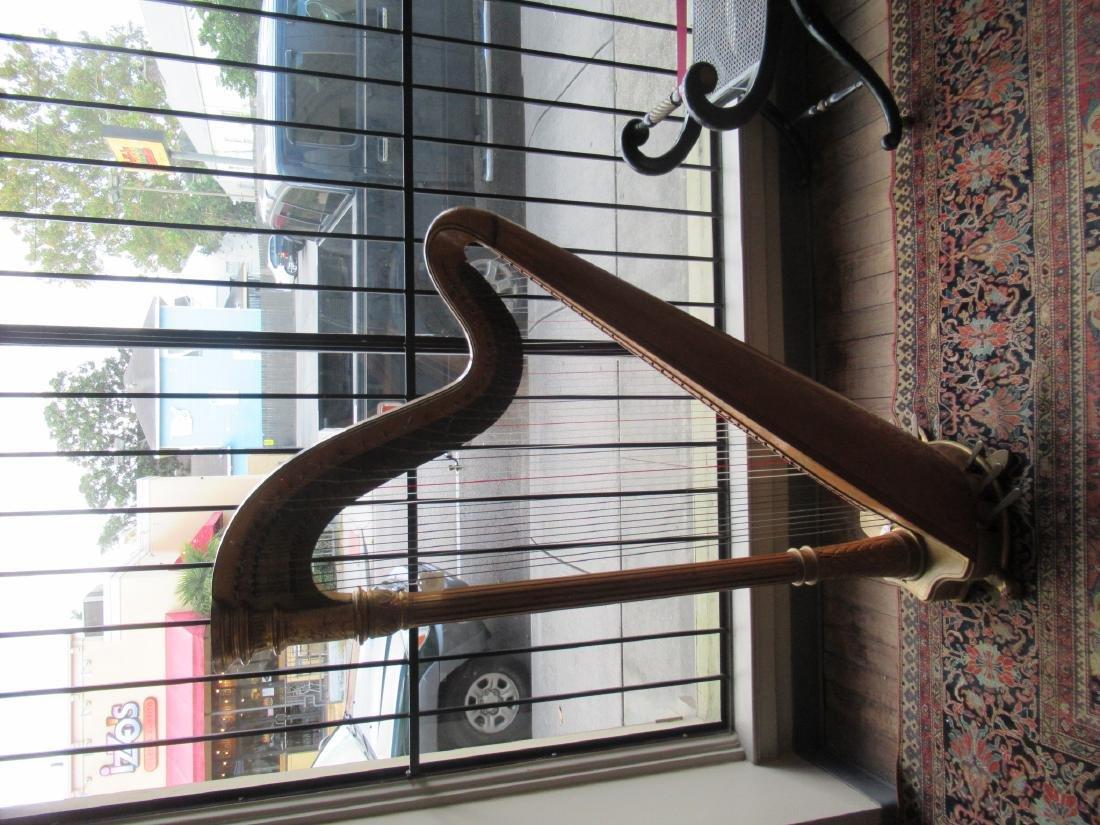 Lyon & Healz Satinwood and Gilt Harp - 3