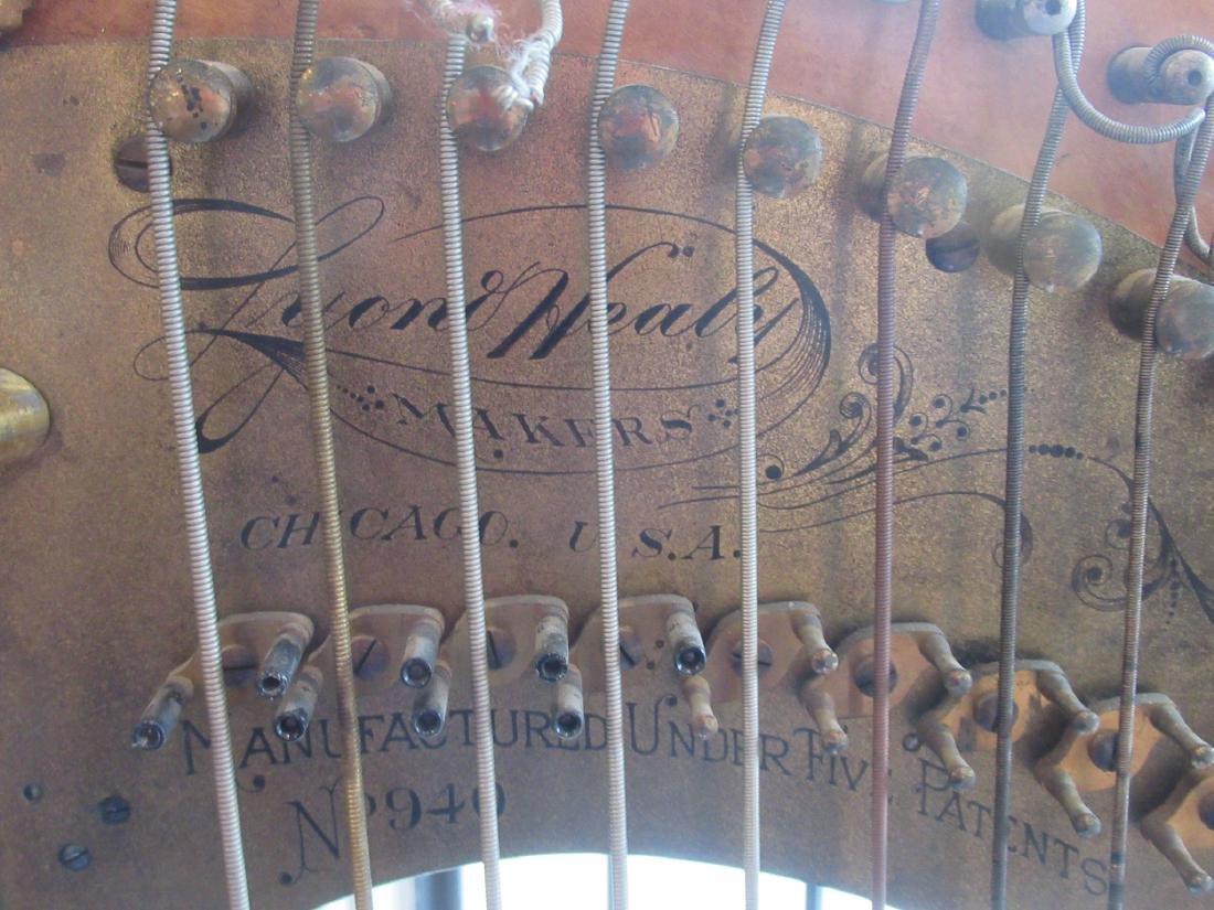 Lyon & Healz Satinwood and Gilt Harp - 5