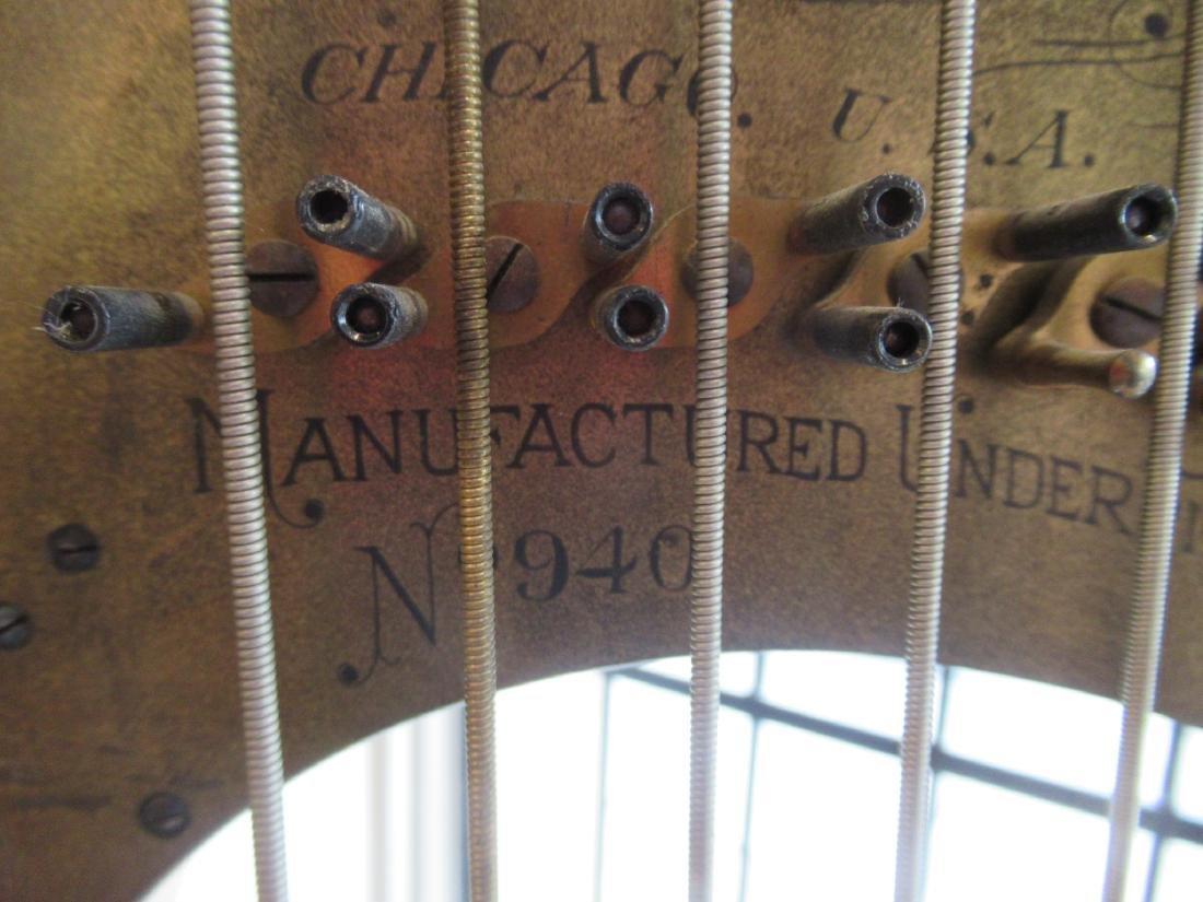 Lyon & Healz Satinwood and Gilt Harp - 6