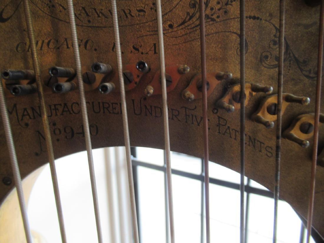 Lyon & Healz Satinwood and Gilt Harp - 7