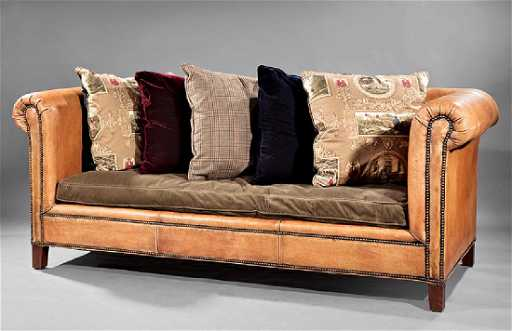 Brown Leather Chesterfield Sofa, Ralph Lauren