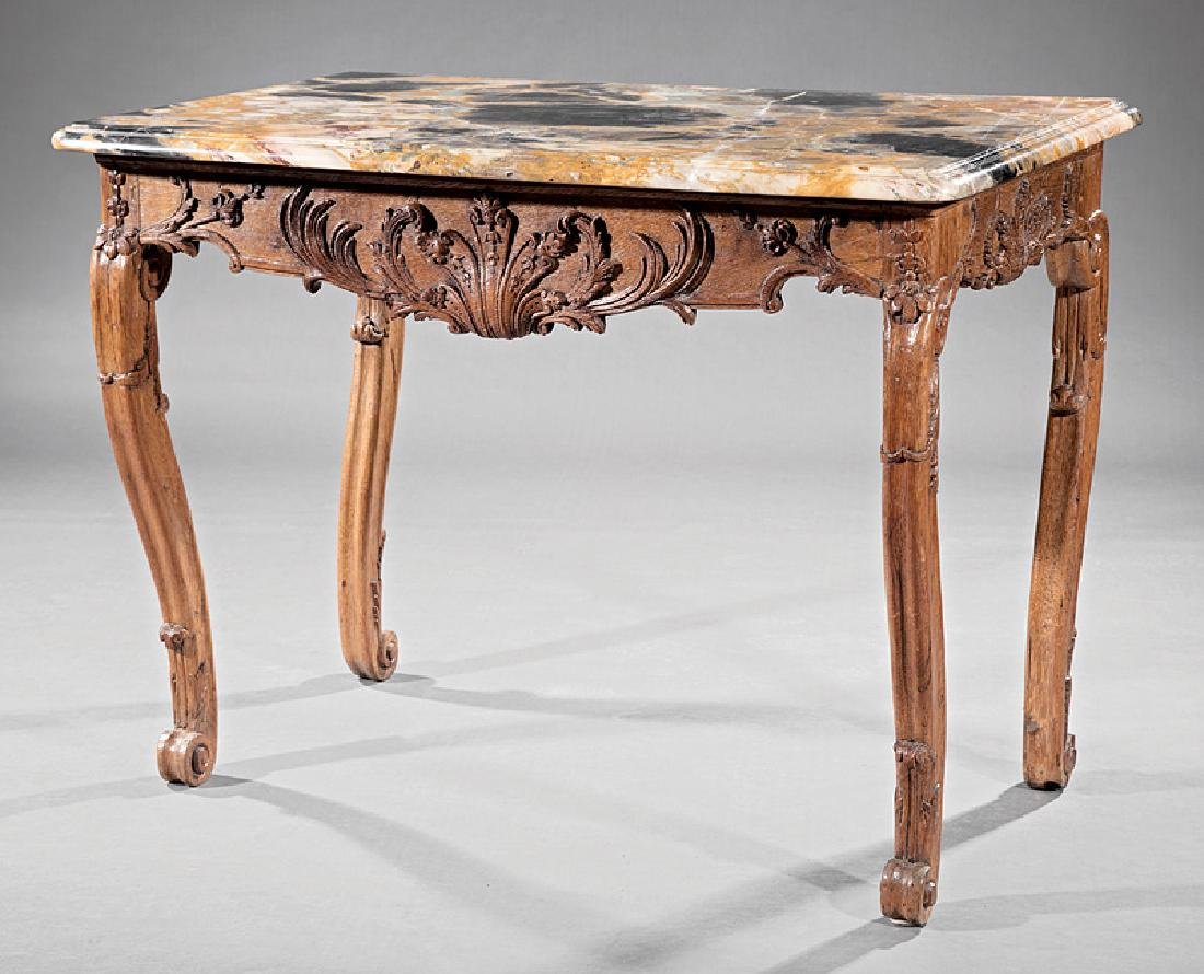 Provincial Carved Oak Console Table