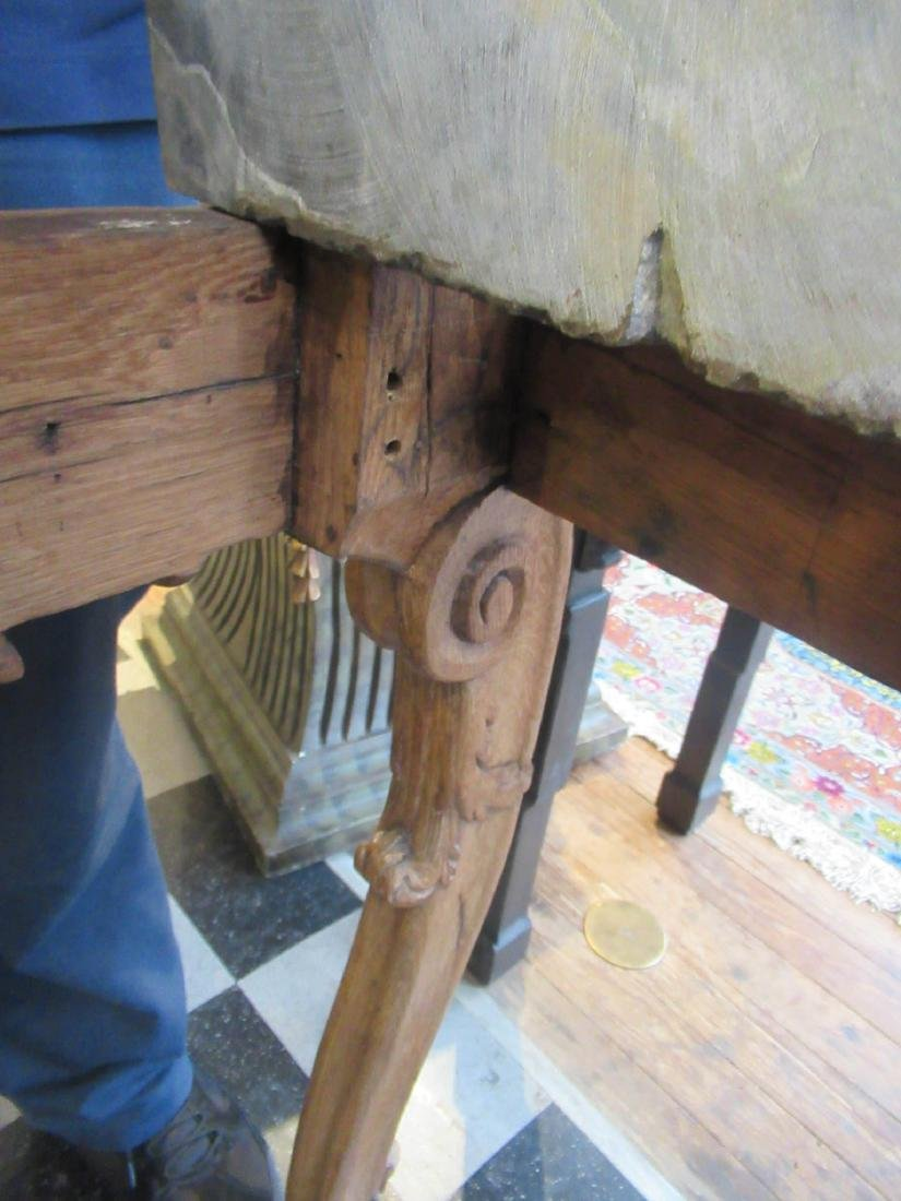 Provincial Carved Oak Console Table - 8