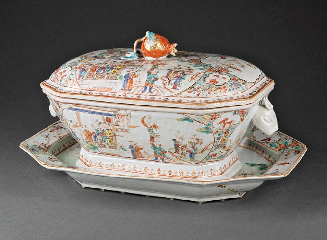 Chinese Export Famille Rose Porcelain Covered Tureen