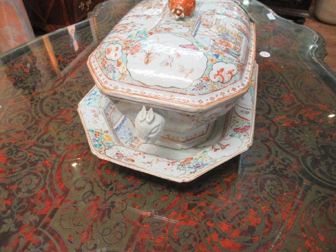 Chinese Export Famille Rose Porcelain Covered Tureen - 4