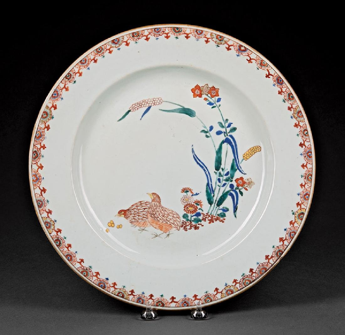 Chinese Export Kakiemon-Style Porcelain Charger