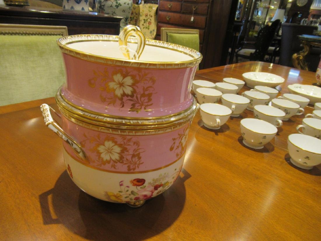 Pair of English Porcelain Covered Fruit Coolers - 2