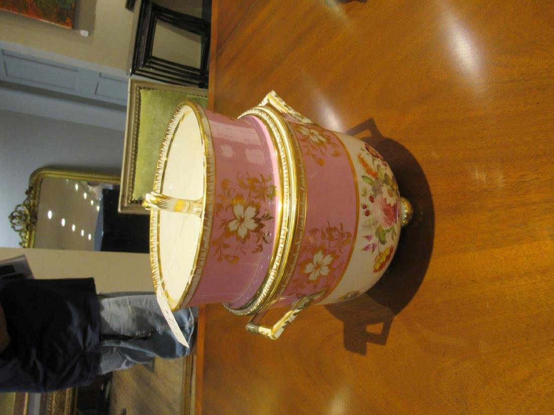 Pair of English Porcelain Covered Fruit Coolers - 5