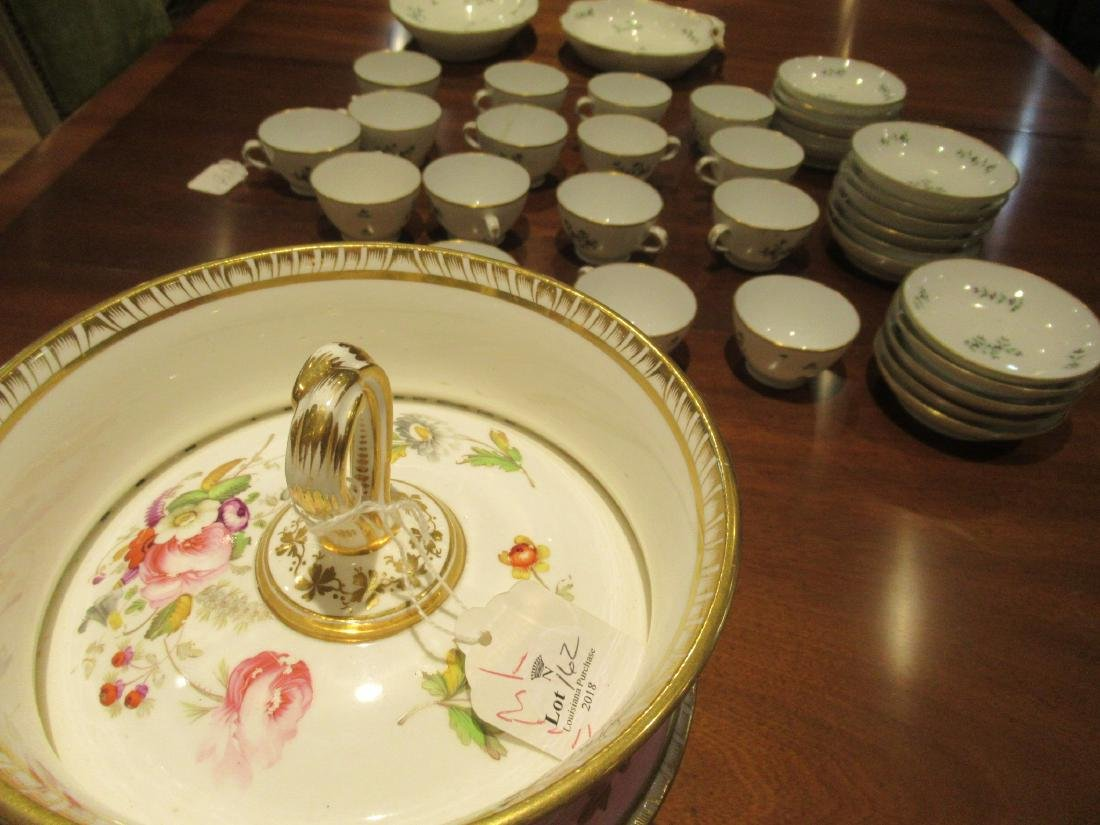 Pair of English Porcelain Covered Fruit Coolers - 7