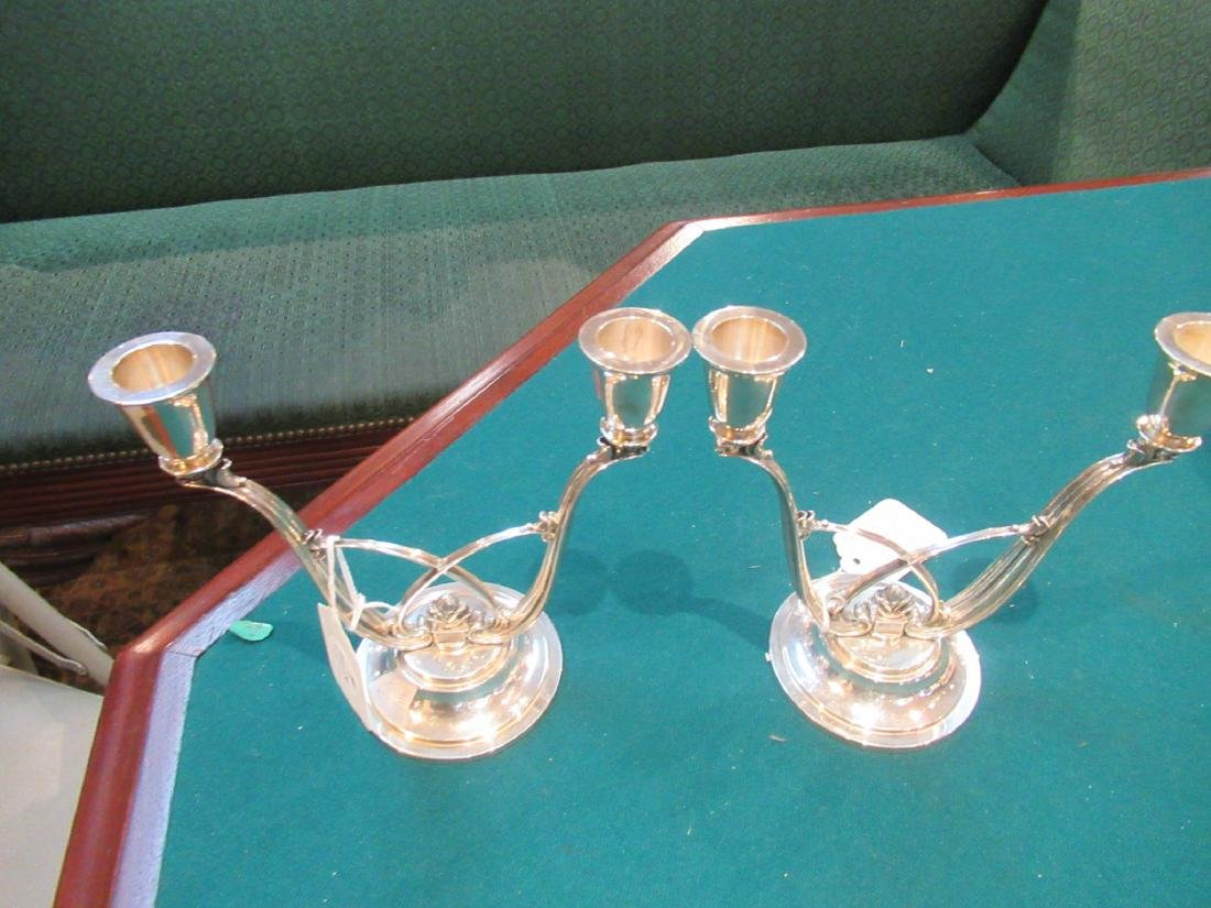 Pair of Georg Jensen Sterling Silver Candelabra - 2