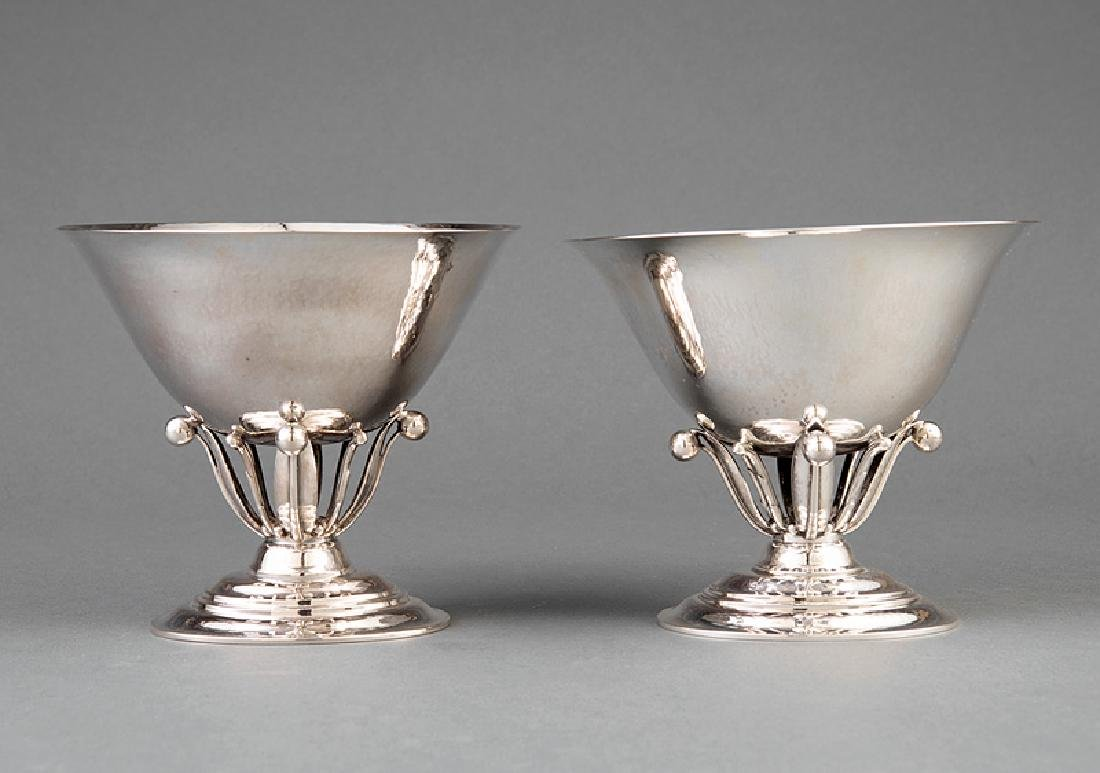 Pair of Georg Jensen Sterling Silver Compotes