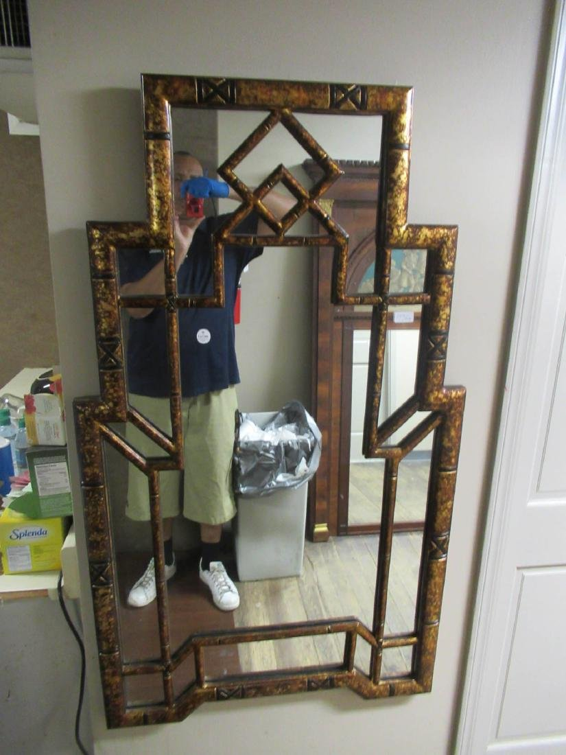 Chinese Chippendale-Style Gilt and Painted Mirror - 2