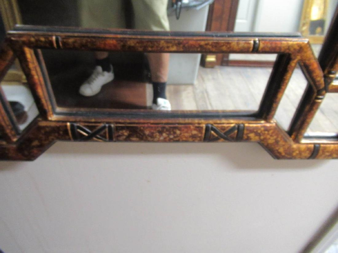 Chinese Chippendale-Style Gilt and Painted Mirror - 3