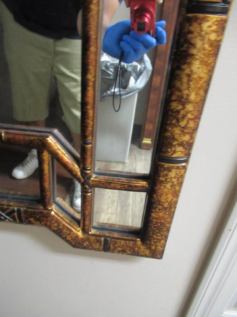 Chinese Chippendale-Style Gilt and Painted Mirror - 5