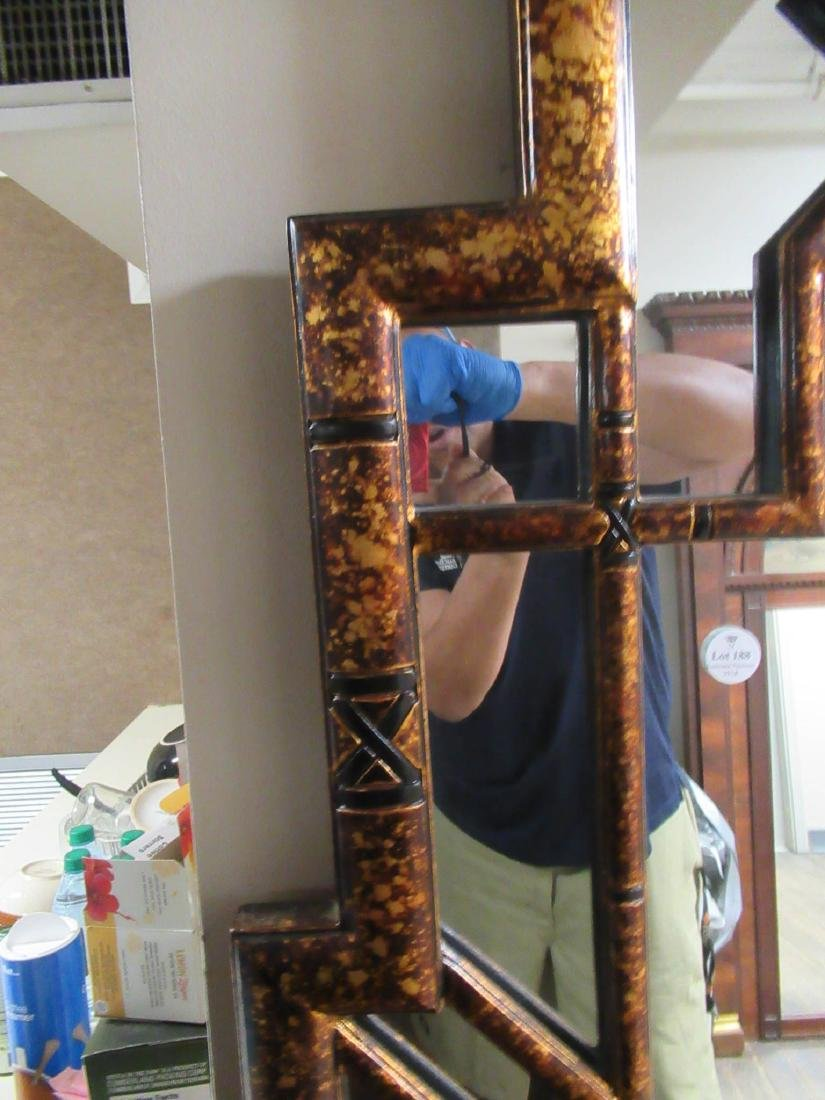 Chinese Chippendale-Style Gilt and Painted Mirror - 6