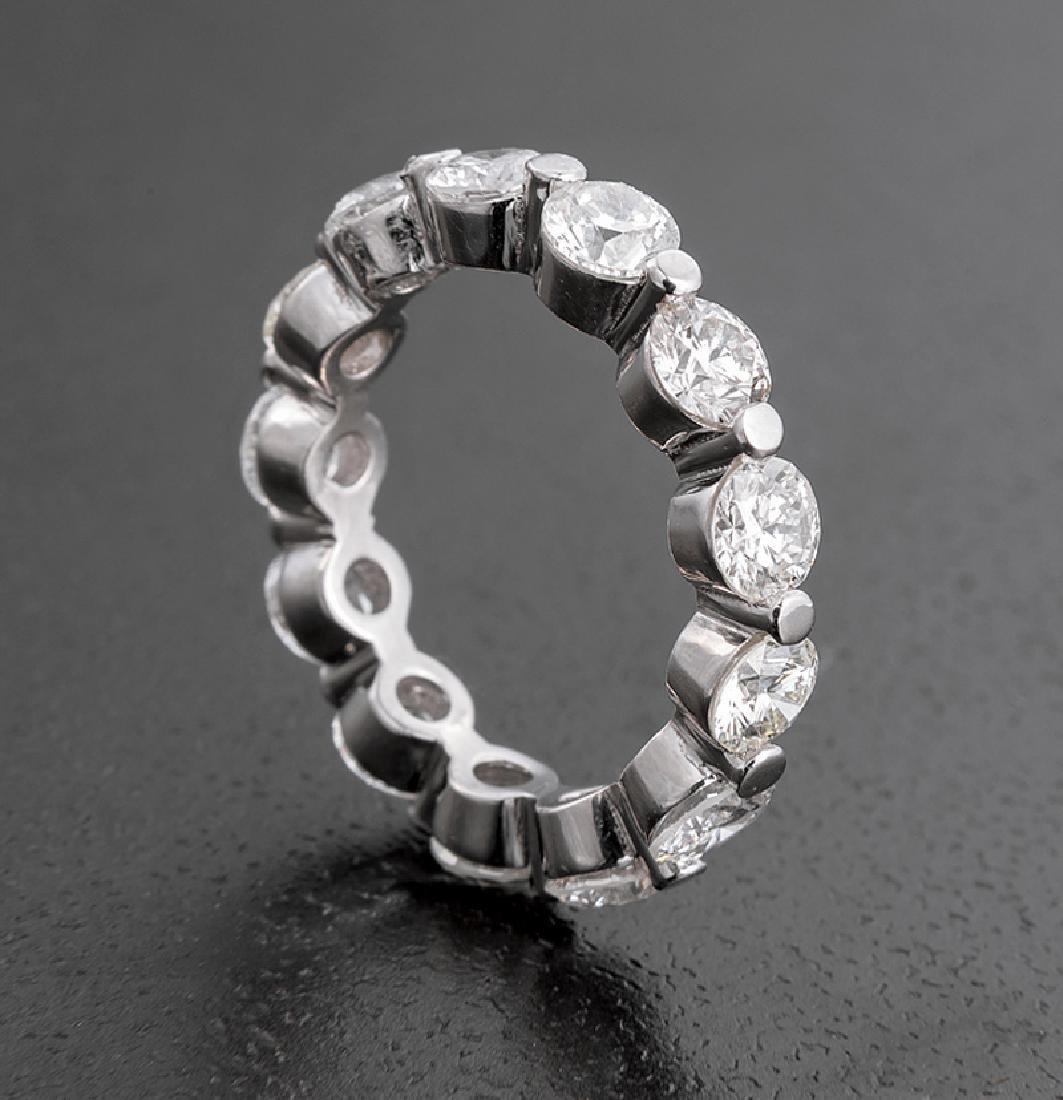 Platinum and Diamond Eternity Band Ring
