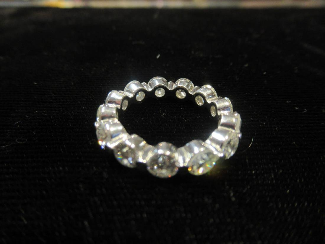 Platinum and Diamond Eternity Band Ring - 2