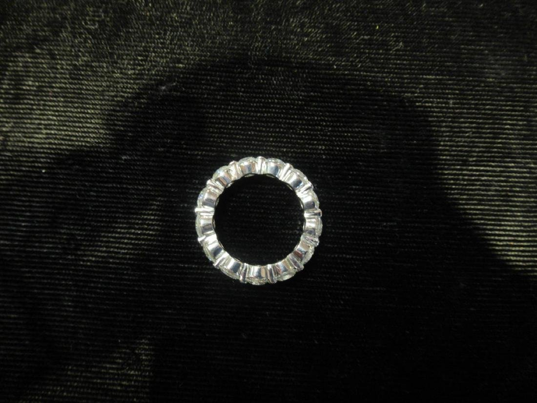 Platinum and Diamond Eternity Band Ring - 3