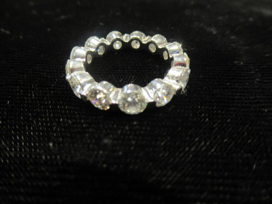 Platinum and Diamond Eternity Band Ring - 5