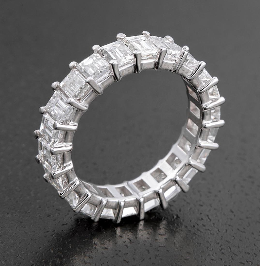 18 kt. White Gold and Diamond Eternity Band Ring