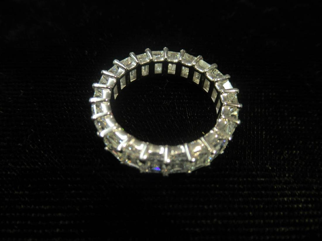 18 kt. White Gold and Diamond Eternity Band Ring - 2