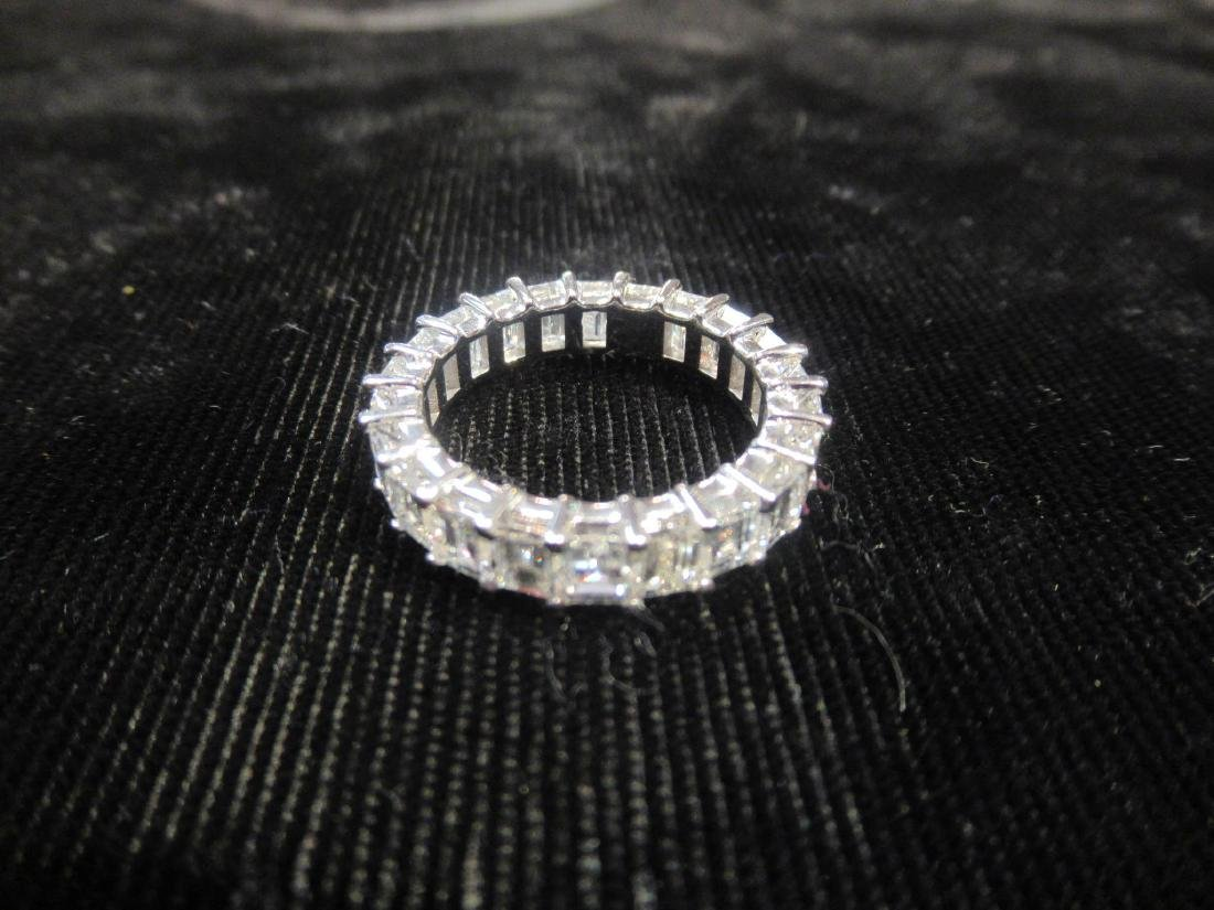 18 kt. White Gold and Diamond Eternity Band Ring - 3