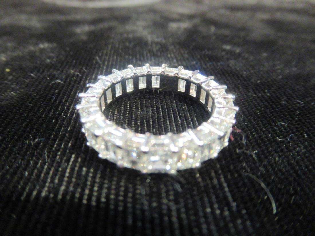 18 kt. White Gold and Diamond Eternity Band Ring - 4