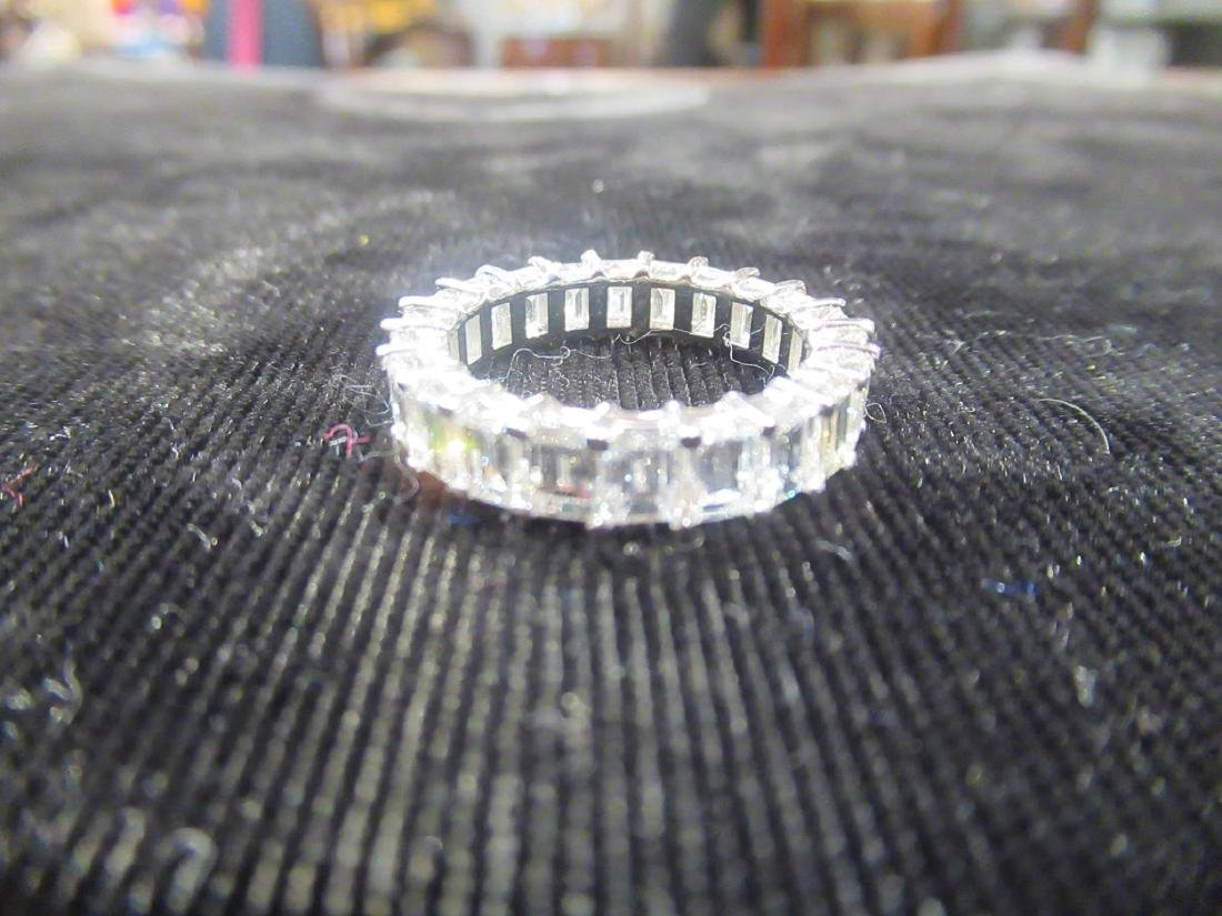 18 kt. White Gold and Diamond Eternity Band Ring - 5