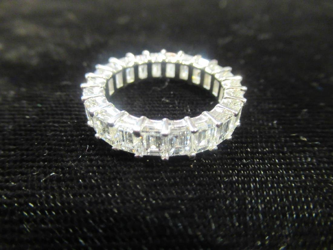 18 kt. White Gold and Diamond Eternity Band Ring - 6