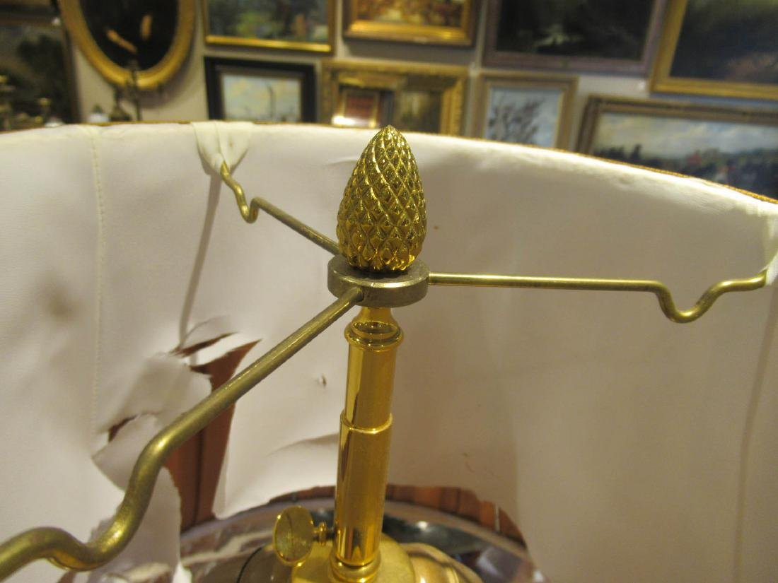French Gilt and Patinated Brass Cornstalk Table Lamp - 4