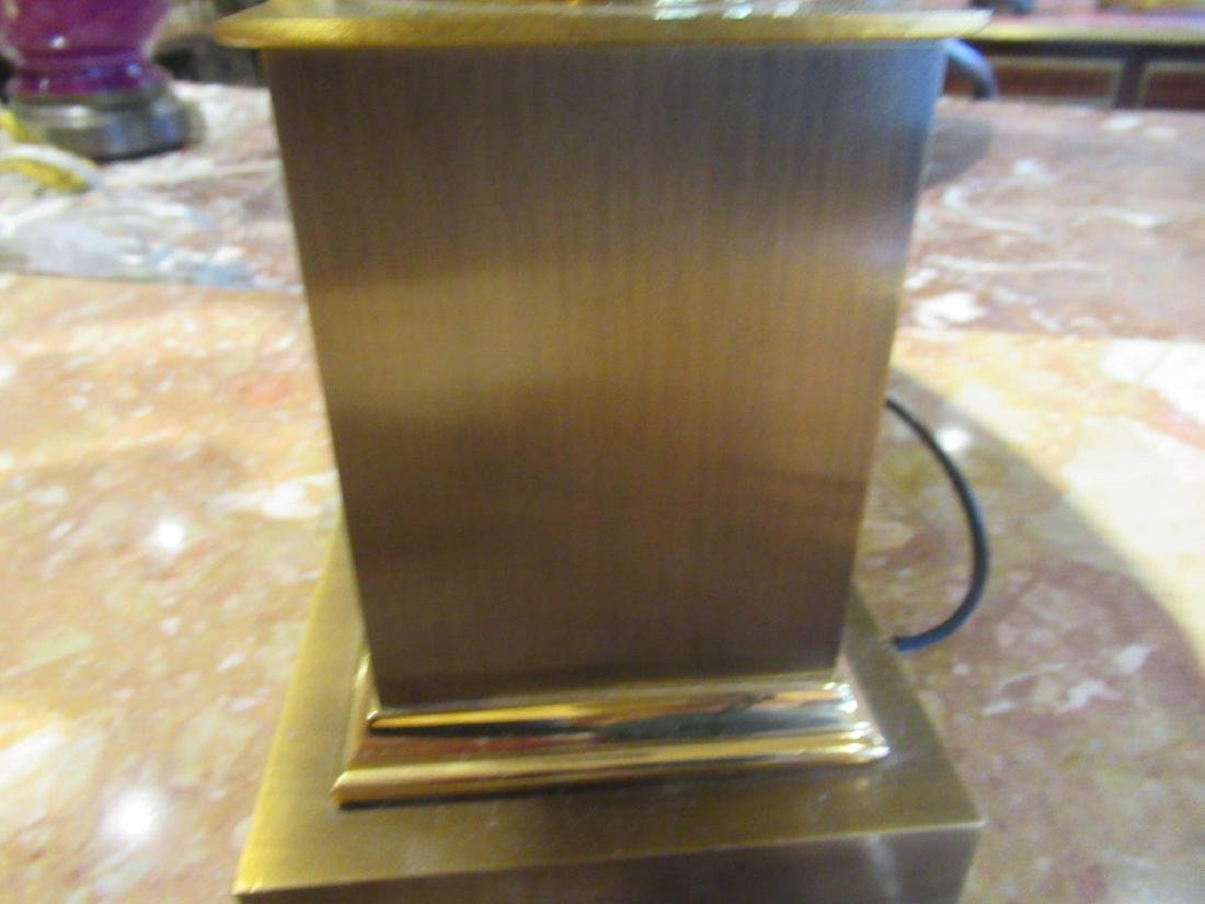 French Gilt and Patinated Brass Cornstalk Table Lamp - 8