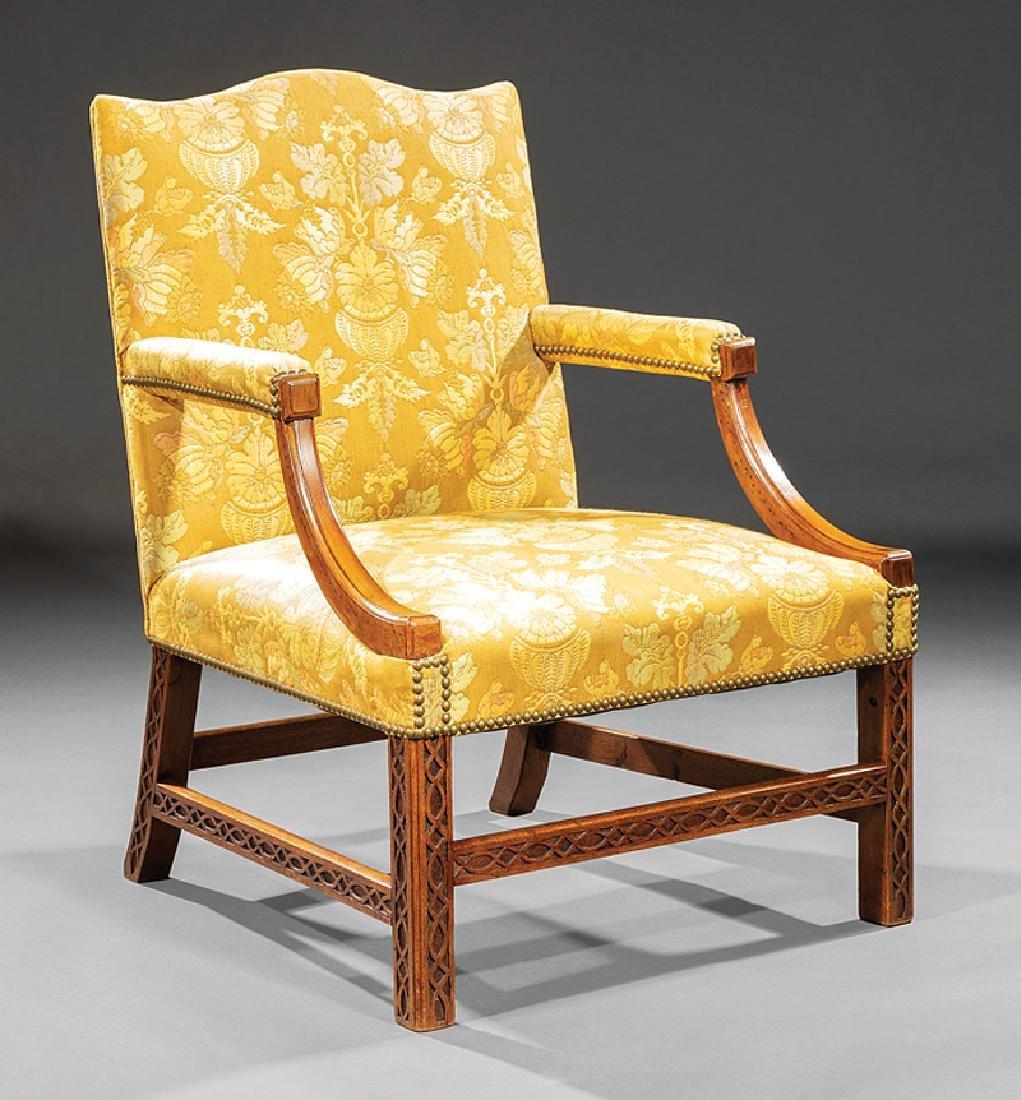 George III-Style Mahogany Library Armchair