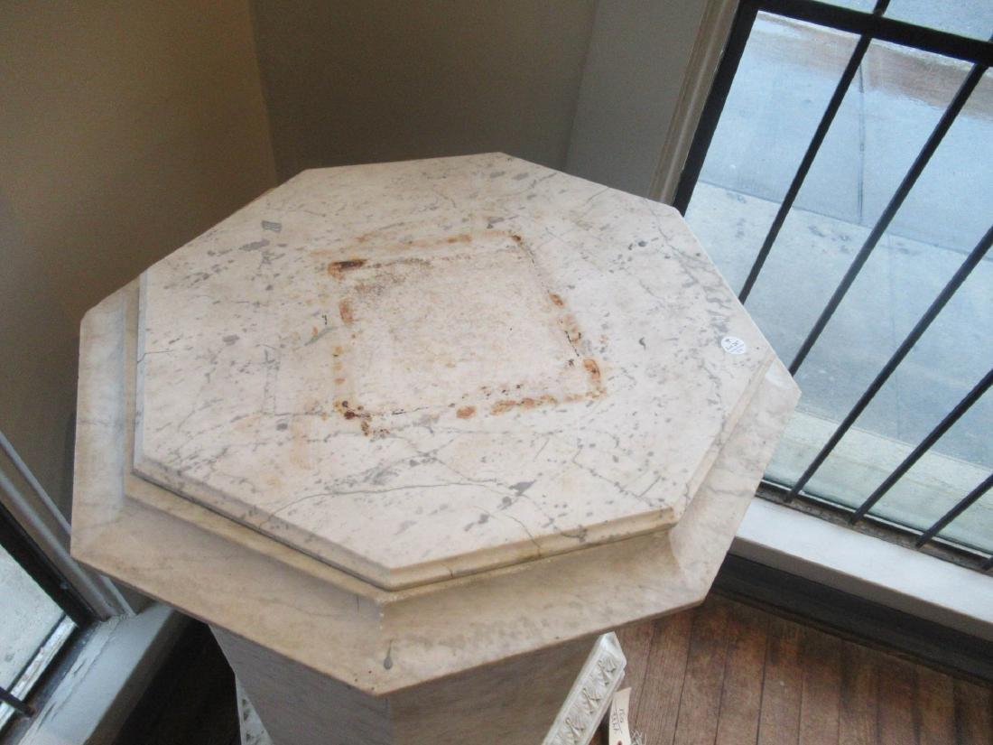 Italian Carved Carrara Marble Statuary Pedestal - 2