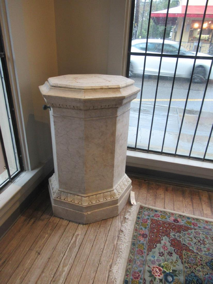 Italian Carved Carrara Marble Statuary Pedestal - 3